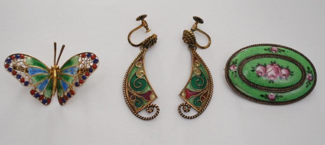 Generous Lot of Sterling & Enamel Jewelry - 2
