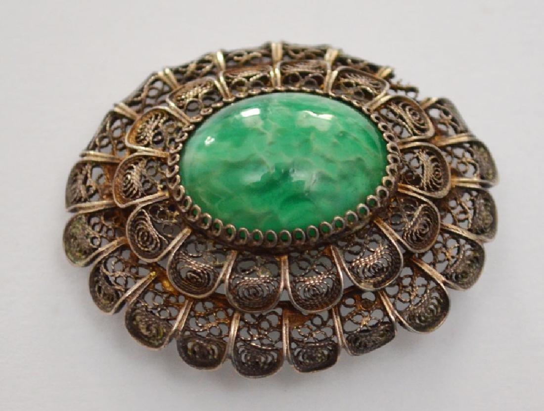 Generous Lot of Sterling & Enamel Jewelry - 3
