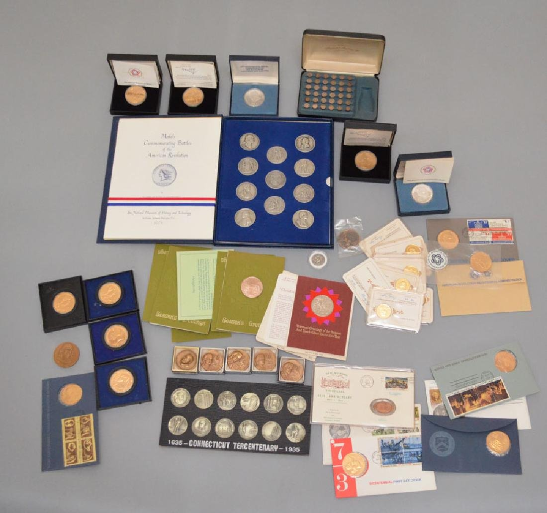 Large Lot of Commemorative Coins (Some Silver)