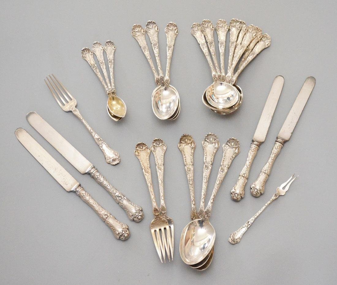 25 Pcs Gorham Poppy Sterling Silver Flatware