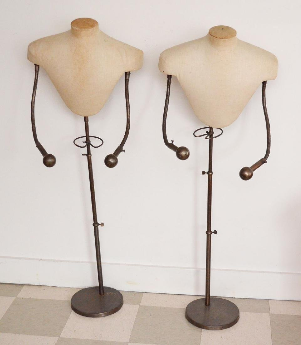 2 Very Unusual  Mid Century dress Form Mannequins