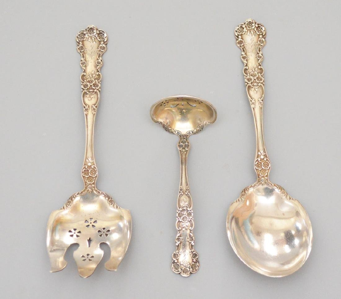 3 Gorham Buttercup Sterling Silver Serving Pcs