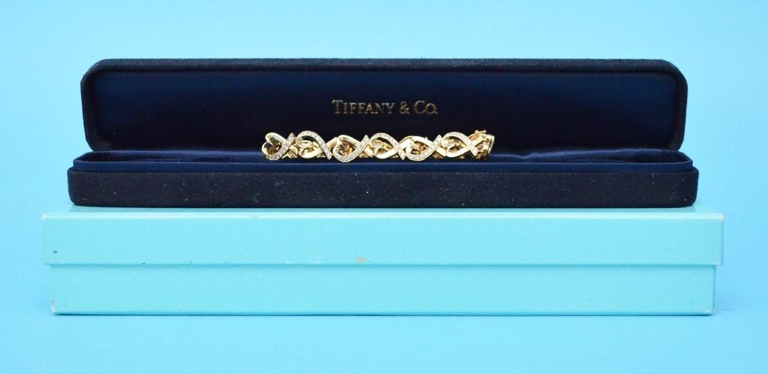 Tiffany & Co 18k Gold & Diamond Picasso Bracelet