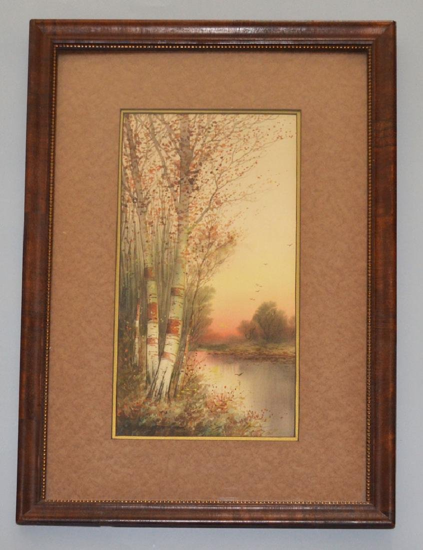 Charming C R Raymond Watercolor Painting