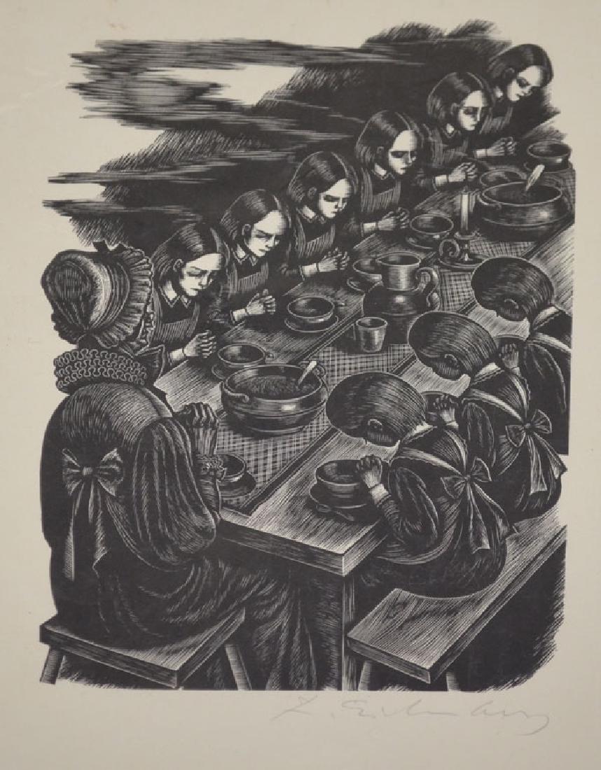 Signed Eichenberg Engraving - 2