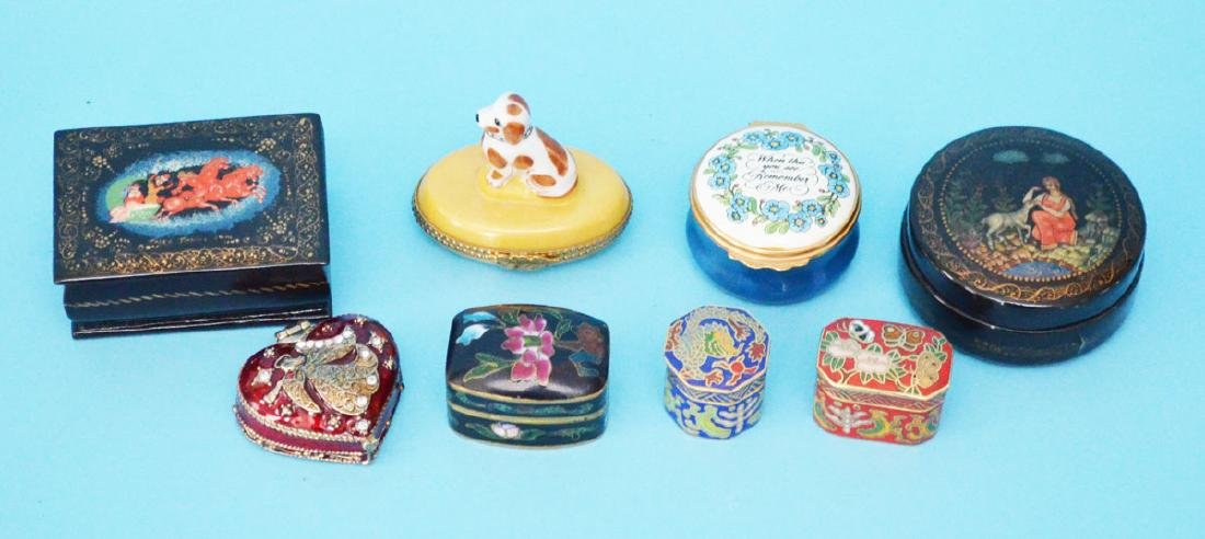 Collection of Boxes (Limoges, Russian, Halcyon)
