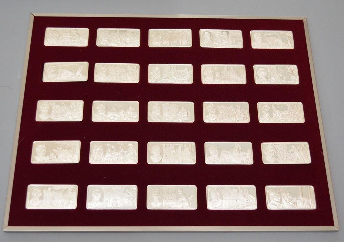 100 Famous Americans Sterling Bars - 3