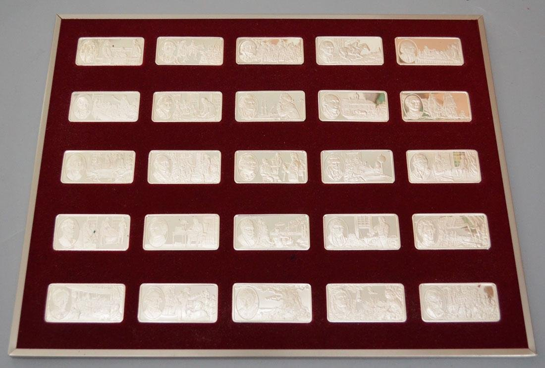 100 Famous Americans Sterling Bars - 5