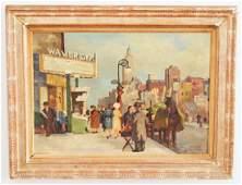 Andree Ruellan Greenwich Village Painting