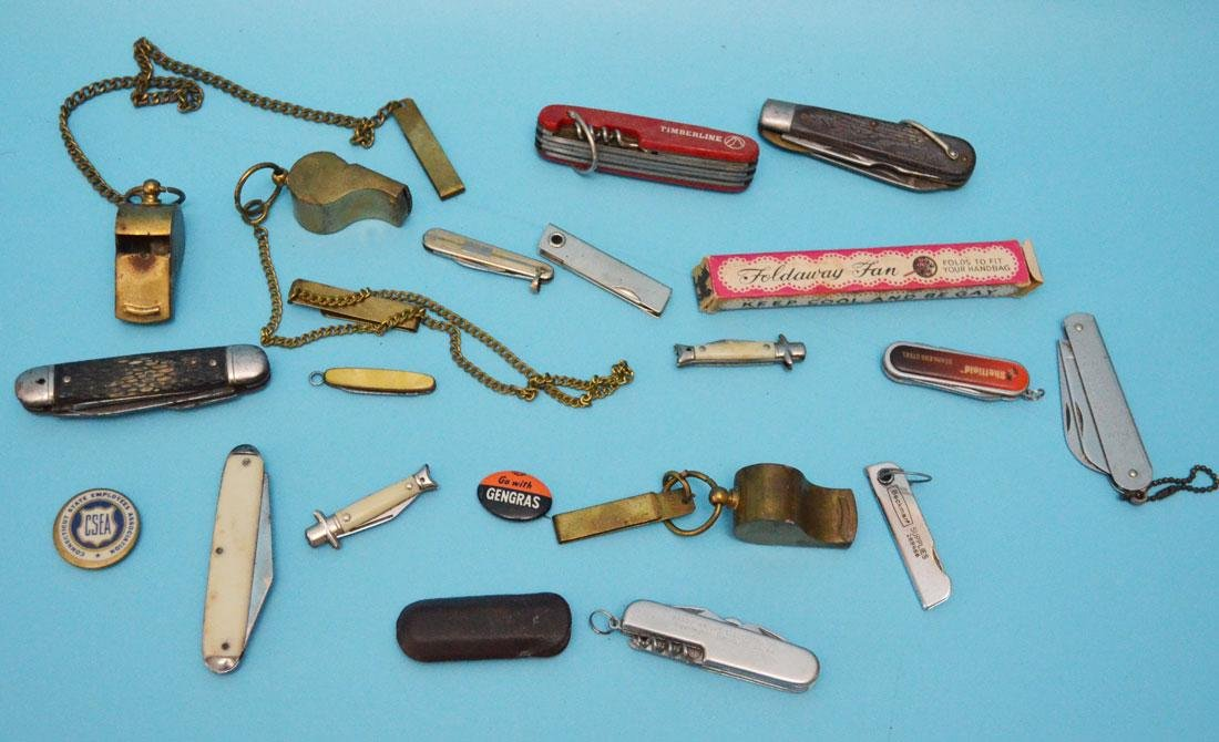 Lot of Vintage Pocket Knives and Accessories