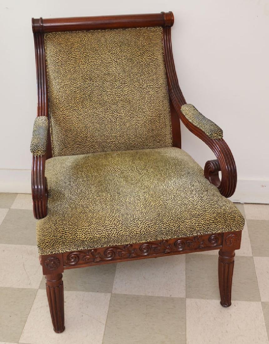 The Best Leopard Upholstered Mahogany Chair