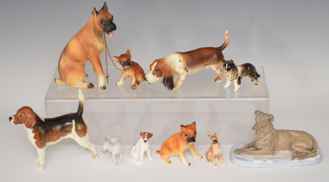 Lot OF Porcelain Dogs ( Doulton, Beswick)