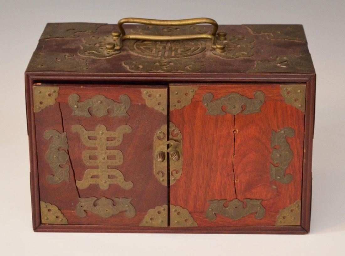 Vintage Chinese Rosewood Mahjong Set