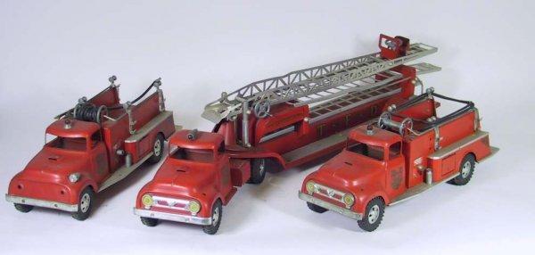5: Three 1950's Iron Hydraulic Fire engines No. 5