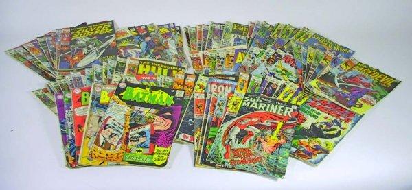 9: 95 Old Marvel Comic Books  Batman, Hulk, Spiderman