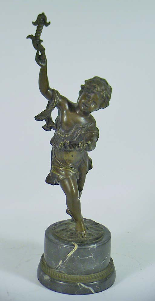 10: Beautiful Vintage Bronze Of A Young Boy