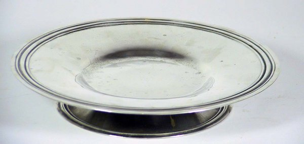 11B:  Sterling Silver Mexican Lazy Susan signed Maciel