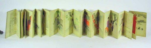 81: Unusual Antique Signed  Woodblock Print Book
