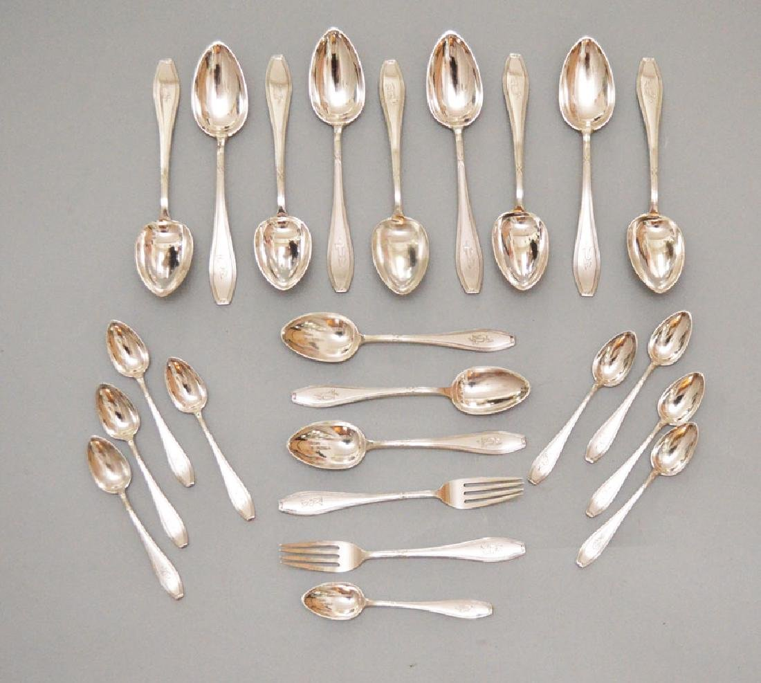 23 Pieces  of 875 Silver Flatware Spoons & Forks