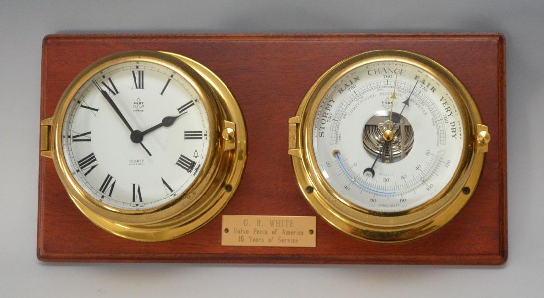 Pilot Maritime Clock & Barometer