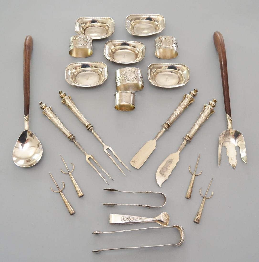 Lot of Whimsical Sterling Silver Serving Accessories