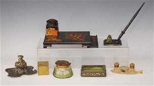 Antique Inkwell Collection (Tiffany Studios, Japanese)