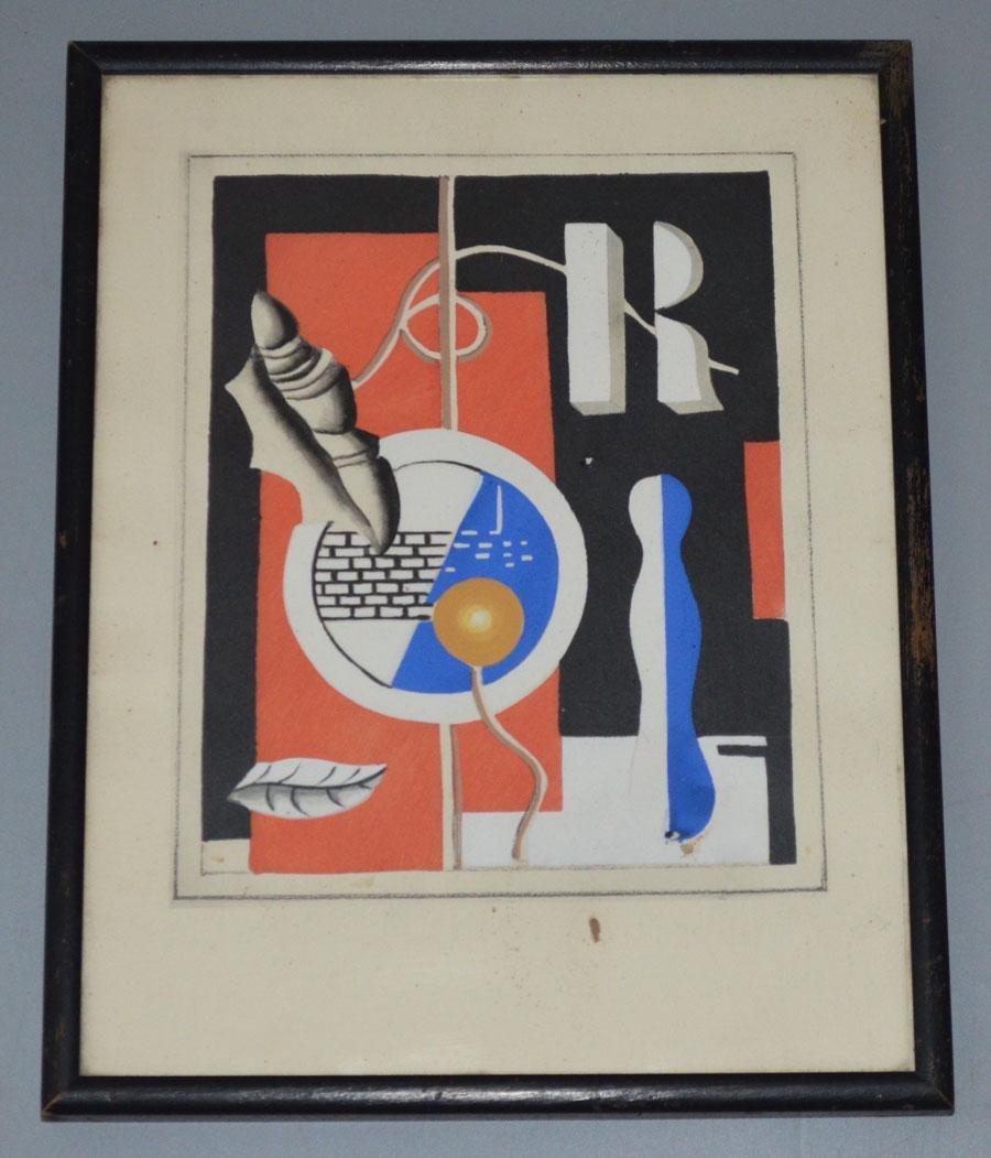 Ferdinand Leger 1927 Painting Coquille et Feuille