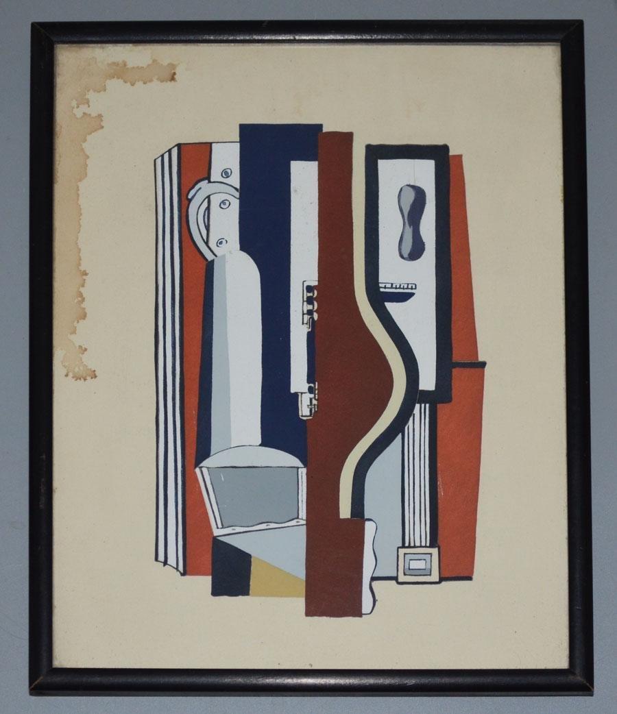 "Ferdinand Leger 1926 ""Accordeon"" Painting"