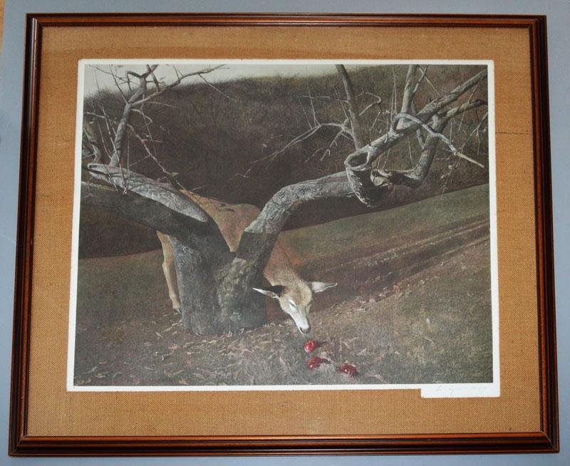 Signed & Numbered Andrew Wyeth Jacklight Print