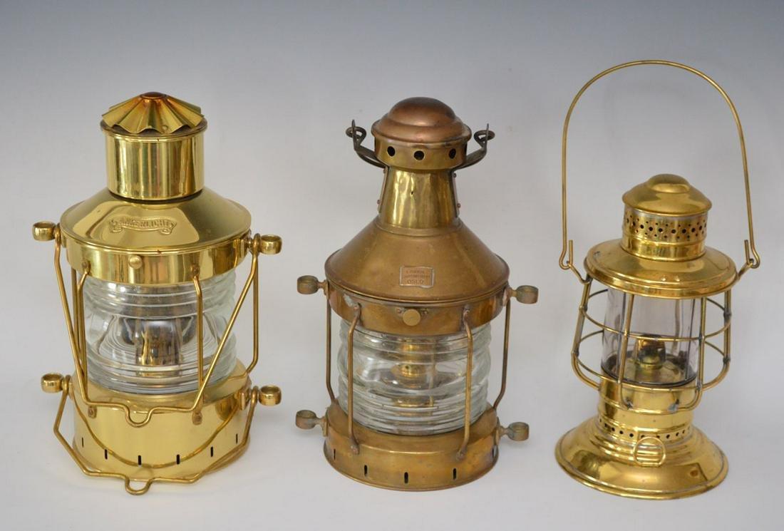 3 Antique Ship Lanterns