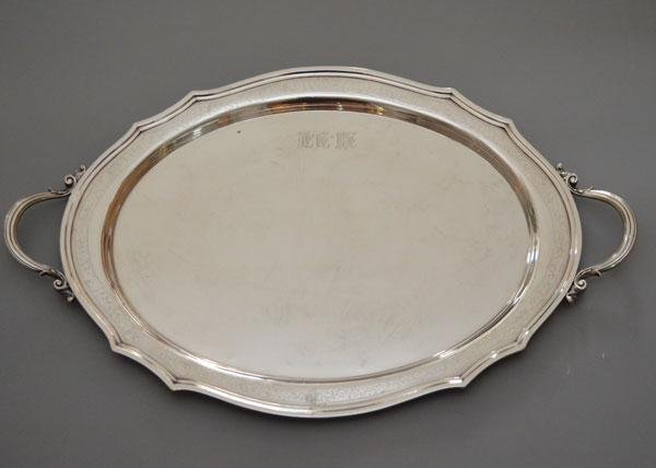 An Impressive Monumental Sterling Tray