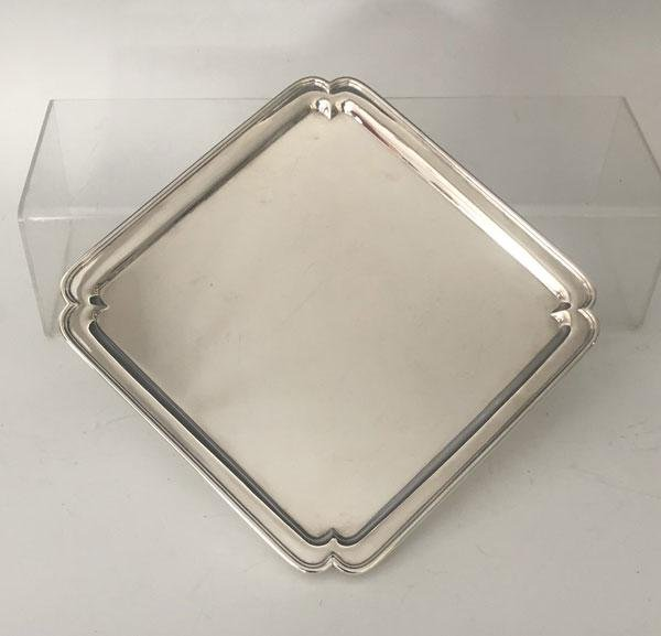 Stunning  & Simple English Sterling Silver Platter