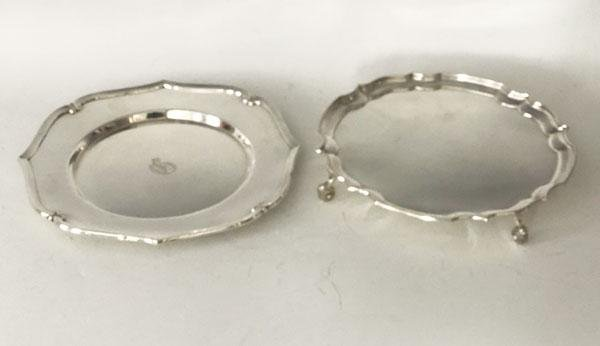 2 Wonderful Sterling Silver Platters ( English /