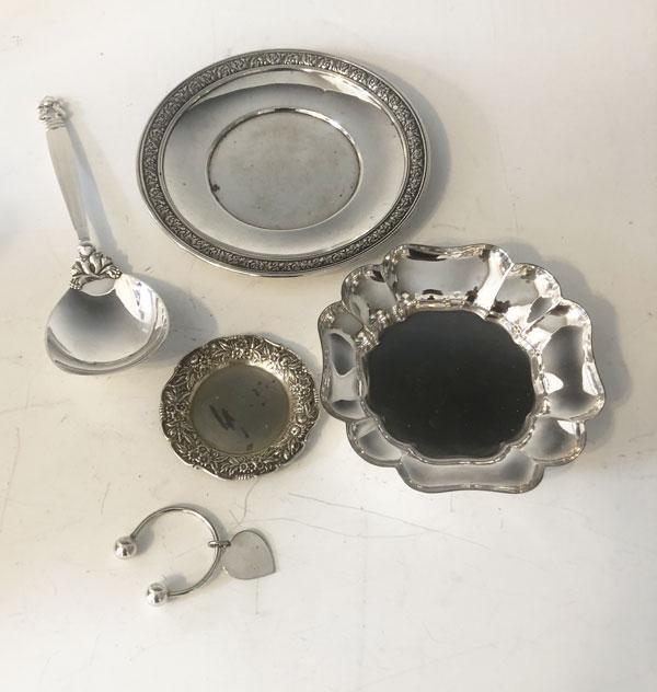 Lot Of Tiffany,  Jensen & Kirk Sterling  Silver Items