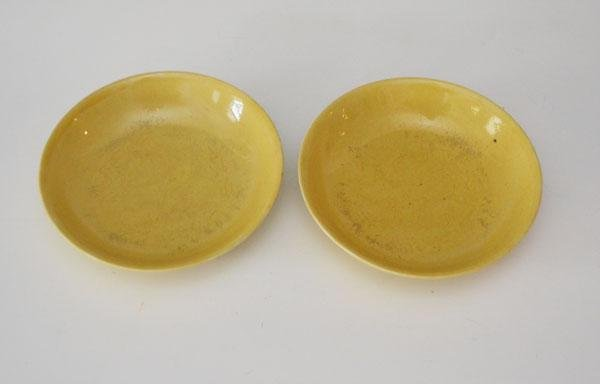 2  Antique Chinese Porcelain Imperial Yellow Bowls