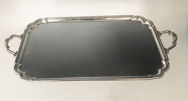 Large English Sterling Silver  2 Handled Handsome Tray