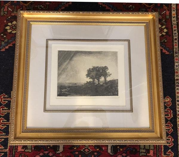 Beautifully Framed Durand After Rembrandt Etching