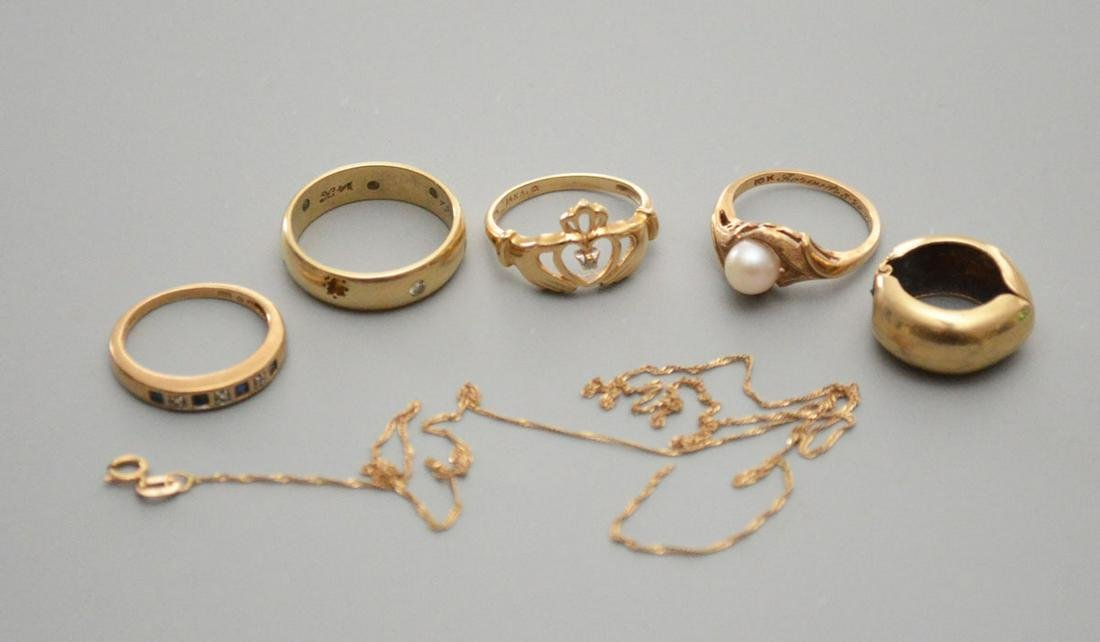 Lot Of Lovely 14 k Gold Jewelry