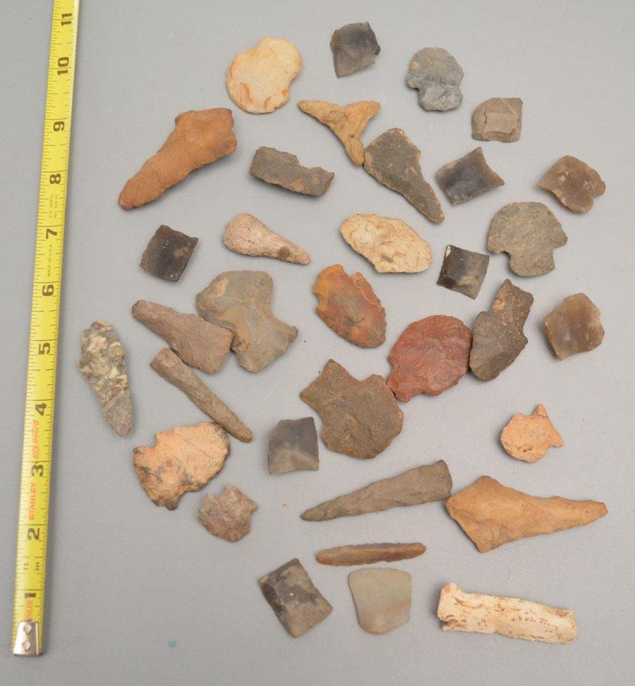 Collection of Agate Arrowheads