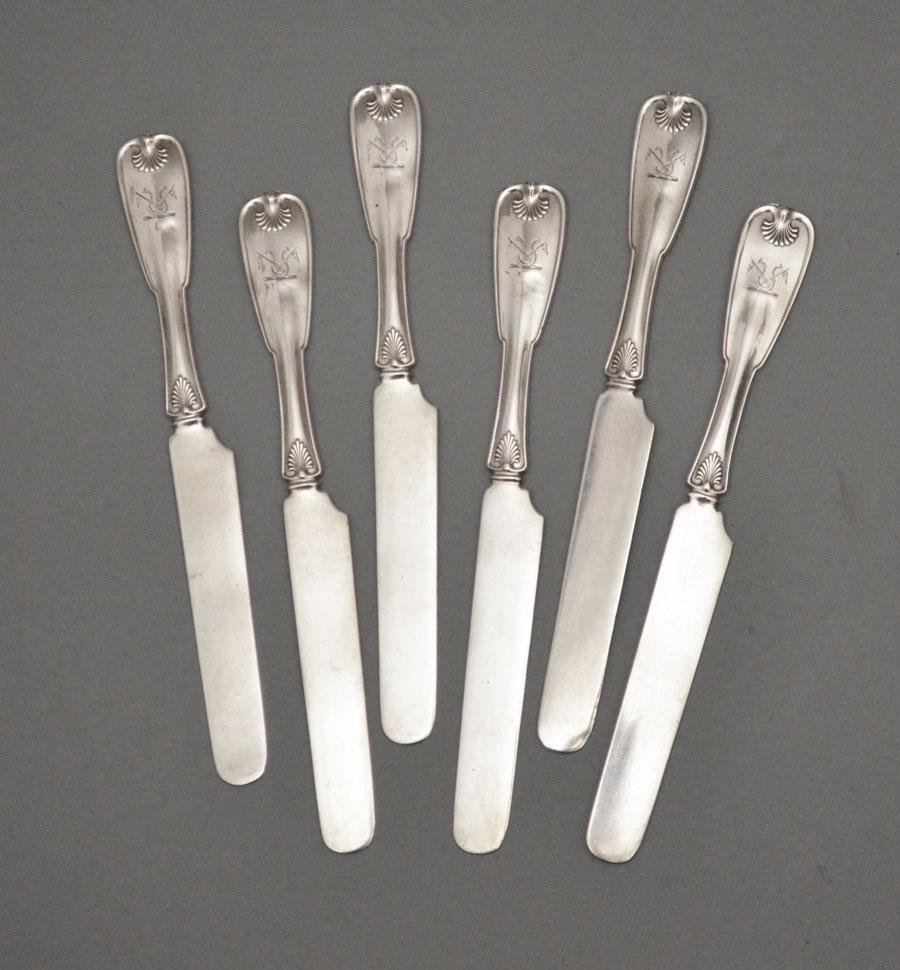 Tiffany & Co. Sterling  Shell & Thread  Butter Knives