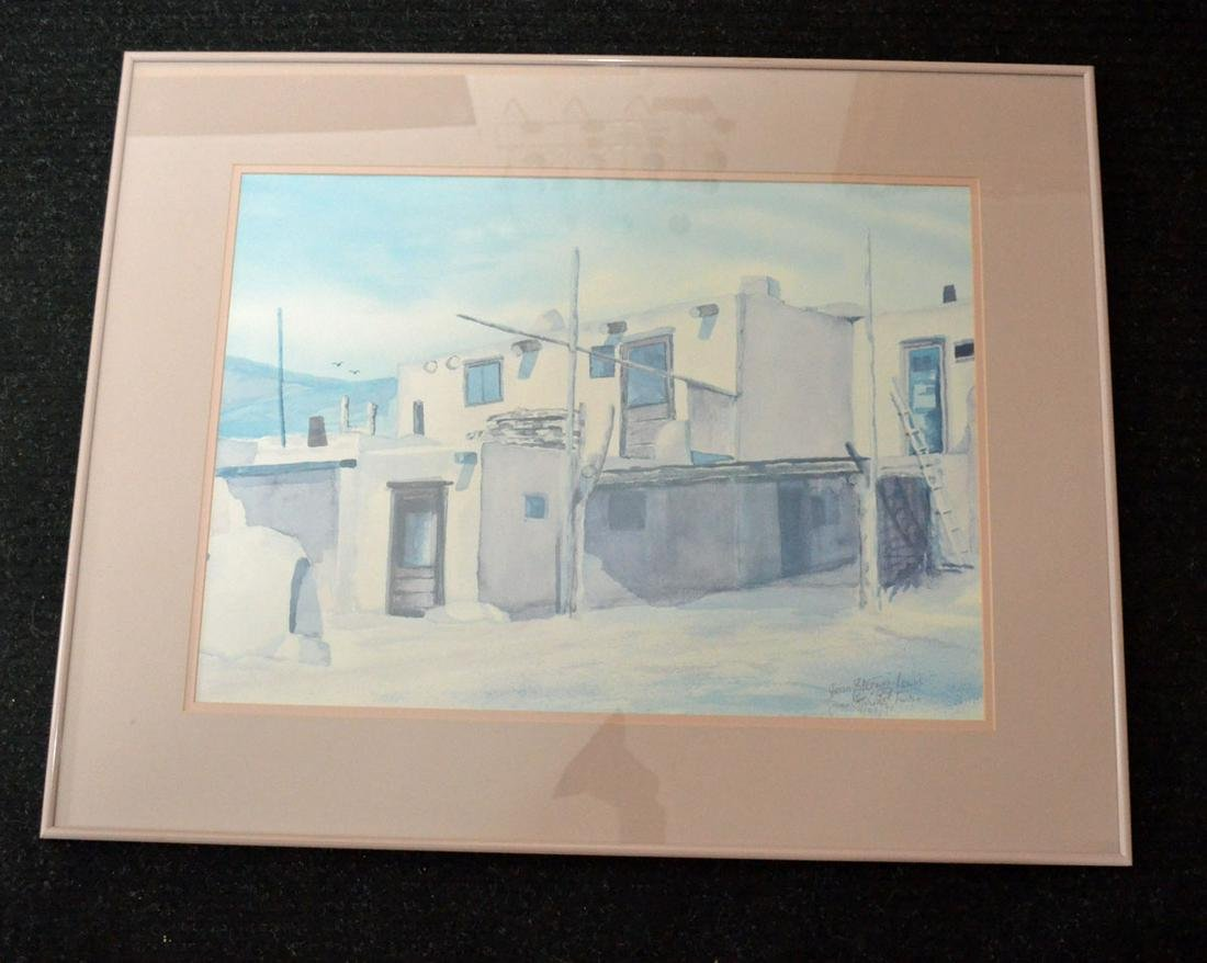 Jean Lewis Signed Print of Adobe House