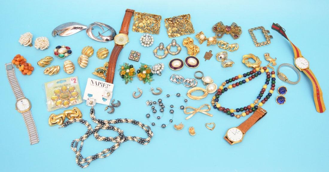 Nice Lot of Costume Jewelry & Watches