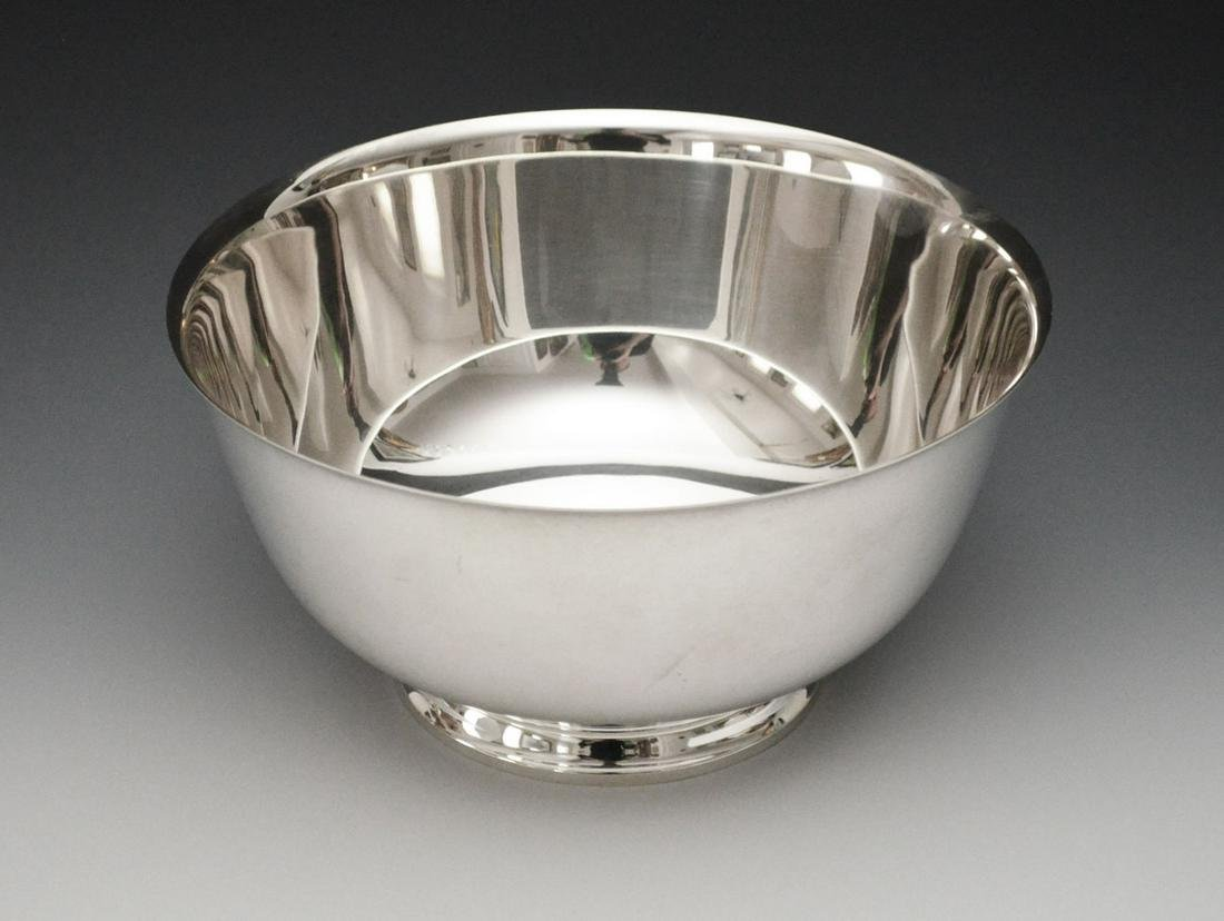 Large Tiffany & Co. Sterling Silver Footed Bowl