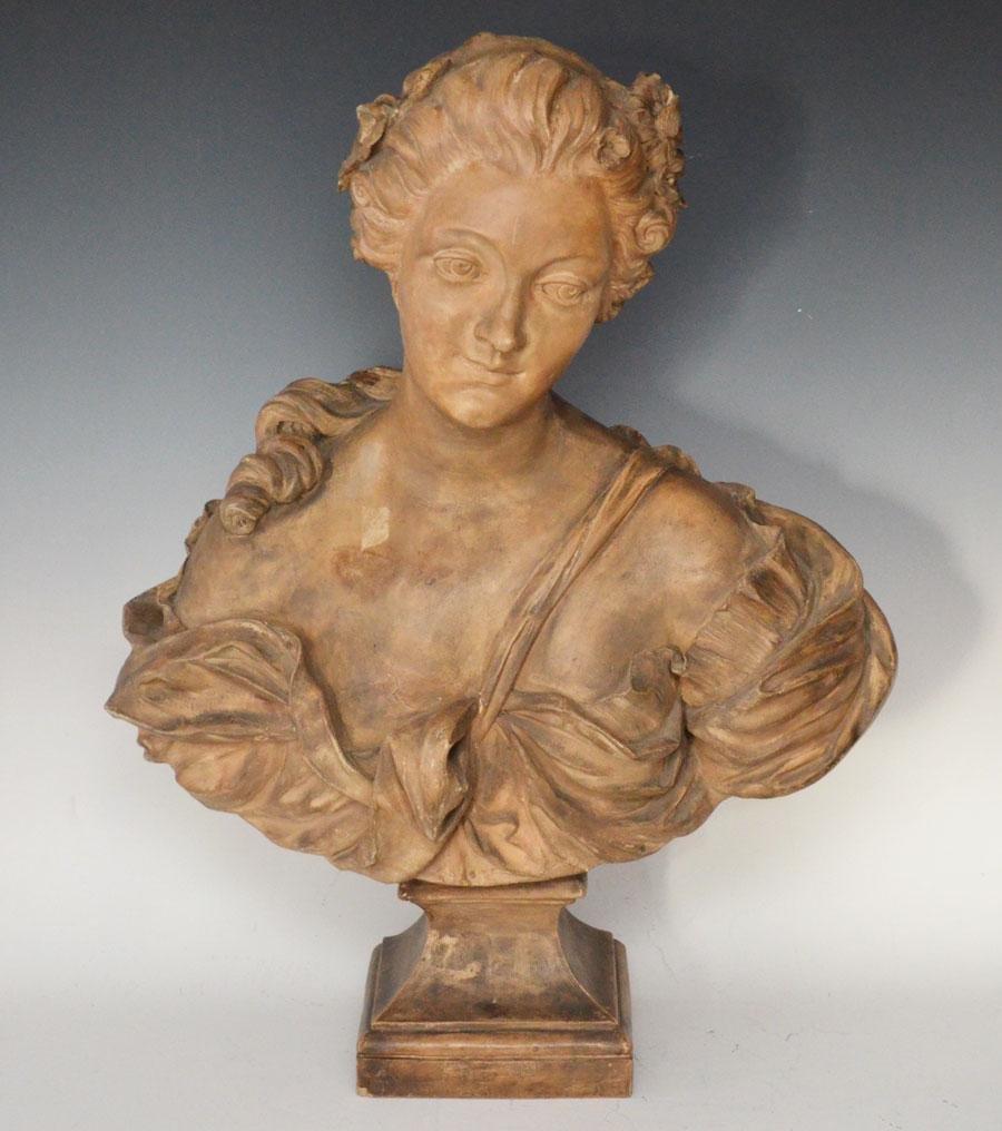 Sevres Terra Cotta Bust Of Madame Pompadour