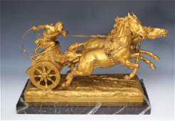 Roman Charioteer Bronze Statue by Ulpiano Checa