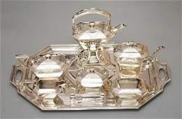 Stunning Seven Piece Gorham Sterling Tea Set