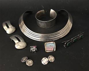 Lot Of Interesting Sterling Silver Jewelry