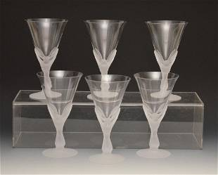 Set of 6 Sasaki Frosted Glasses