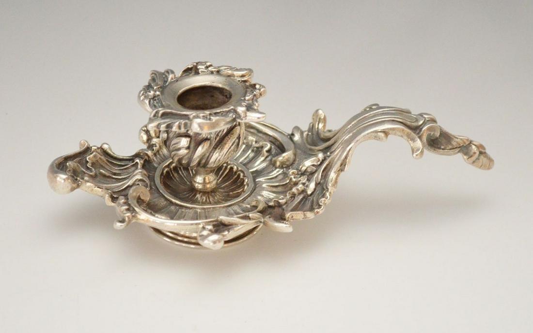 Vavassori Heavy Sterling Silver Ornate Candlestick