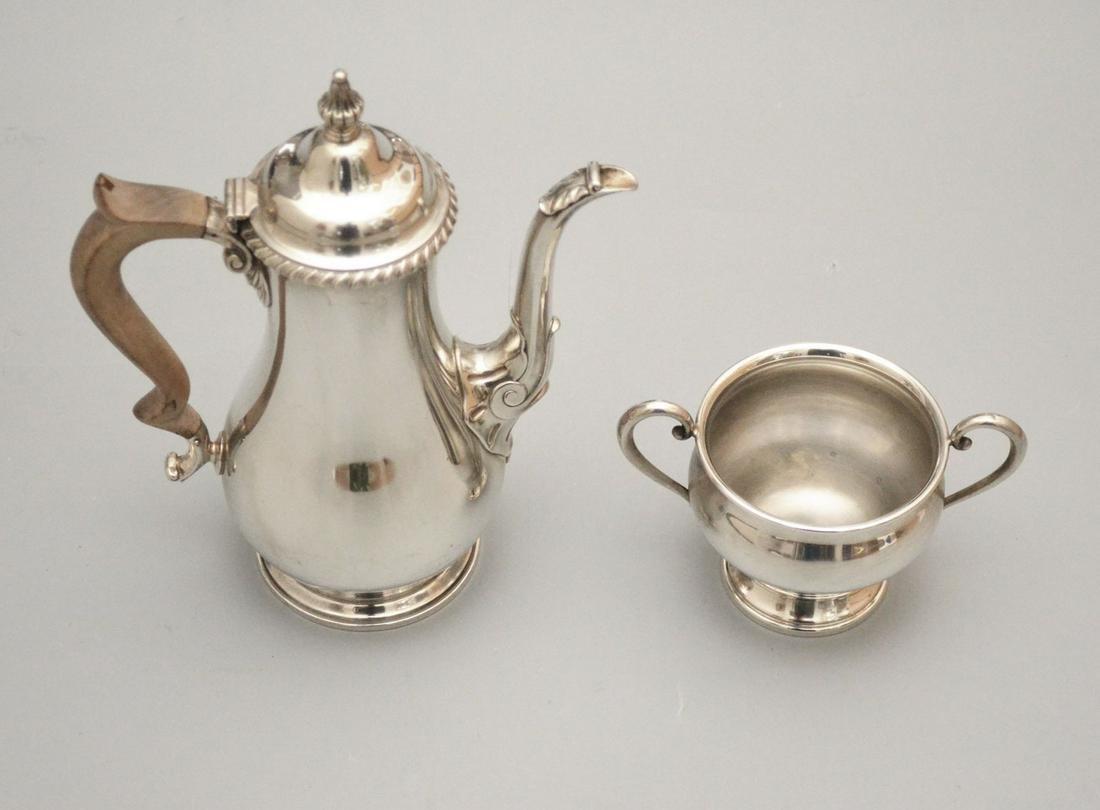 Sterling Silver Teapot & Open Sugar
